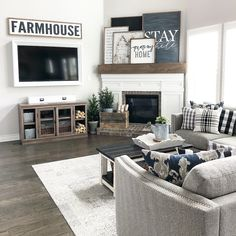 "397 Likes, 13 Comments - holly | our faux farmhouse (@ourfauxfarmhouse) on Instagram: ""The most used room in the house. It's like they were on to something by calling this ""the living…"""