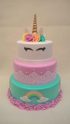 Drip Cakes, Birthday Cake Flavors, Barbie Birthday Party, Fake Cake, Biscuit Cake, Fondant Cupcakes, Unicorn Party, Birthday Invitations, Cake Recipes