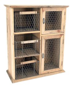 Look at this Wood & Wire Cabinet on #zulily today!