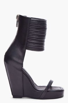 7163f70a800 Rick Owens Rick Owens, Bootie Boots, Heeled Boots, Shoe Boots, Leather  Wedges