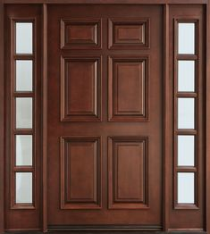 Are you looking for best wooden doors for your home that suits perfectly? Then come and see our new content Wooden Main Door Design Ideas. Wooden Front Door Design, Double Door Design, Wooden Front Doors, Main Entrance Door Design, Entrance Ideas, Wooden Windows, Entrance Decor, Door Ideas, Entry Door With Sidelights