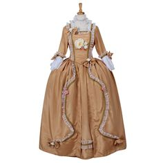Find More Underwear Information about Marie Antoinette Baroque Rococo Dress Victorian Vintage Floral Dancing Party Yellow Dress Carnival Costume Custom Made,High Quality carnival costume,China dress victorian Suppliers, Cheap rococo dress from Unique Costume Store on Aliexpress.com