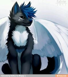 Angel wolf furry