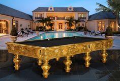 The Most Expensive Klimt Pool Table Antique Pool Tables, Pool Table Accessories, Italian Table, Luxury Pools, Elegant Homes, Luxury Lifestyle, Lifestyle Blog, Millionaire Lifestyle, My Dream Home