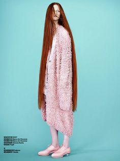 Harper's Bazaar China February 2015 | Magdalena Jasek by Maurizio Bavutti