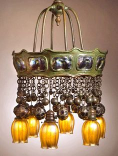 "Tiffany Studios ""Moorish Style"" chandelier. E. 20th century."