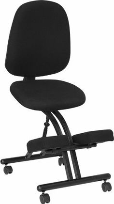 Flash Furniture WL-1428-GG Mobile Ergonomic Kneeling Posture Chair in Black Fabric with Back by Flash Furniture. $128.19. Thickly padded seat, back and knee rest. Back Angle Adjustment. Black fabric upholstery. Posture chair, 19-inch width by 32-inch depth by 43 50-inch height. Back height adjustment. This Posture Chair resembles the look of a conventional task chair. You'll be able to regain your body's natural posture with this ergonomic kneeling chair with included back. Kn...
