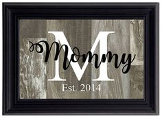 Beautiful custom family name sign perfect for gifting including weddings, Mothers Day, birthdays, anniversaries, baby showers, Fathers Day, etc.!  Your sign comes in an easel-backed 4x6 black plastic molded frame with choice of background color, initial, name and date  Items shipped via USPS Prioirty Mail within 10 business days  **Due to computer screens colors may vary**  **Buyers - please include the date and name you would like on your sign at checkout**