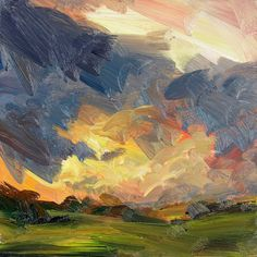 love love love the brush strokes, colors, atmospheric qualities in this -- it takes skill to make a painting look so effortless.  Tai-Shan Schiereberg