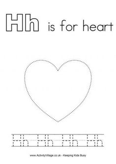 Tracing Alphabet printable sheets - i especially love the H for February!