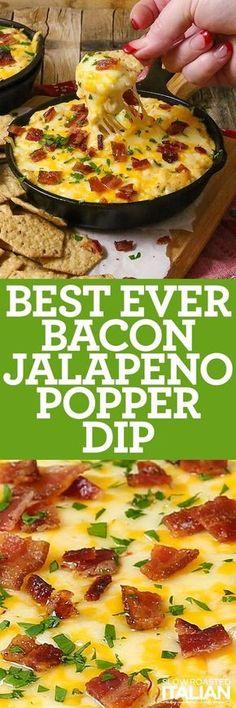 Best Ever Bacon Jalapeno Popper Dip