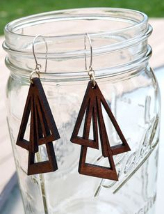 Love these laser cut earrings!