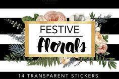 Festive Florals - Tags & Labels @creativework247