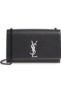 eef9e6233177 Saint Laurent Medium Kate Grainy Leather Shoulder Bag