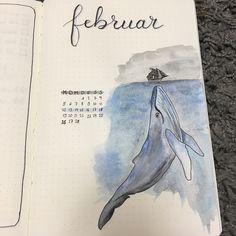 """20 Gostos, 2 Comentários - Nel Wiebe (@nelwiebe) no Instagram: """"Hello February! Here's my #montlyspread for my #bulletjournal"""""""