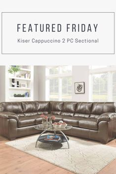 This Weeku0027s Is Bold U0026 Strong   Just Like Dad! Check Out This Kiser  Cappuccino, Faux Leather Sectional Sofa Thatu0027s Perfect For Pops!