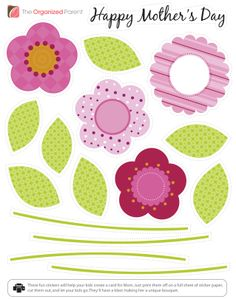 Create a fun Mother's Day card with these printable stickers.