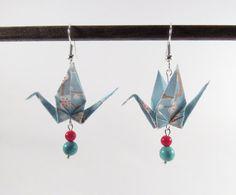 Boucles d'oreilles MOYO Bijou origami . Bijou par Coquetteenpapier