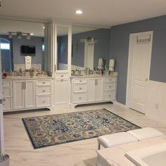 Lark Manor Ashcraft Blue Area Rug & Reviews | Wayfair Area Rug Sets, Aqua Area Rug, Granite Kitchen, Bathroom Organisation, Powder Rooms, Home Renovation, Closer, Paint Colors, Master Bedroom