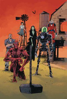 Black Hammer Age of Doom Cover by Paul Pope. May 06 2020 at Comic Book Artists, Comic Books, Dark Horse Comics, American Gods, American Comics, Steve Ditko, Science Fiction Books, Marvel, A Comics
