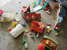 city #fisher_price #little_people #vintage I honestly believe my kids owned every ( almost) every F P set....including all these .. Growing up in the 70 80's
