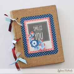 Father's Day mini album created by @Juliana * * * Michaels for @Pebbles Smith Smith Smith Inc. using the #Americana collection #scrapbooking #crafts #FathersDay #MiniAlbum