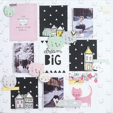Crafty by AgnieszkaBe: Hey Little Magpie Big Wool, Magpie, Happy Girls, Project Life, Dream Big, Layouts, Hello Kitty, Scrapbooking, Crafty