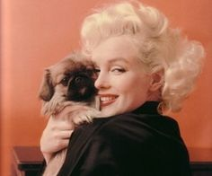 Marilyn and a Peke.