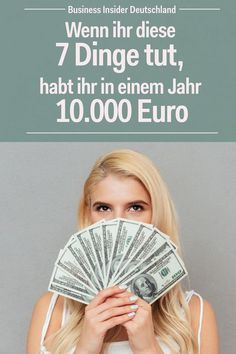 - Wenn ihr diese 7 Dinge tut, habt ihr in einem Jahr Euro With small changes you can save a lot of money. We& explain how you can save money to have a financial cushion to fall back on in emergency situations. Ways To Save Money, Money Tips, How To Make Money, Investing Money, Saving Money, The North Face, Savings Planner, Budget Planer, Savings Challenge