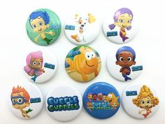 10Pcs Bubble Guppies Children Badge Button Pin Kid Toy/Party Gifts