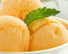 Sorbet à l'abricot sans sorbetière