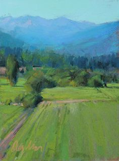 Valley Afternoon by Susan Ogilvie Pastel ~ 10 x 8