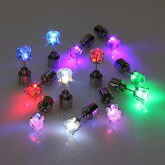 Рождественские серьги для унисекс из светодиодов серьги огни стробоскопы из светодиодов световой серьги ну вечеринку магниты серьги огни pendientes 1 шт. купить на AliExpress