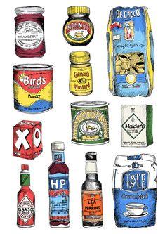 Store cupboard ingredients...art clips