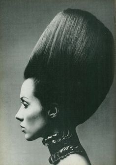 Huge hair for Vogue Italia, March 1970.