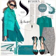 Simplesmente Fashion by claud-637 on Polyvore featuring polyvore fashion style Derek Lam PYRUS H&M Christian Louboutin Vera Bradley myface cosmetics Stila clothing Winter Skirt Outfit, Skirt Outfits, Winter Outfits, Teal Shoes, Pyrus, Jersey Skirt, Derek Lam, Blue Tops, Vera Bradley