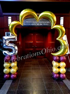 Make an entrance with an awesome balloon arch from Celebrations! We can customize this style of arch with any colors for any age or theme.