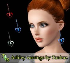 Ashley earrings by Tankuz - Sims 3 Downloads CC Caboodle