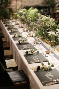 Party table decorations diy decor 27 Most Popular ideas Diy Party Table Decorations, Summer Wedding Decorations, Botanical Wedding Theme, Wedding Guest Table, Wedding Tables, Table Arrangements, Table Flowers, Forest Wedding, Wedding Images