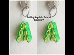 -~-~~-~~~-~~-~- Please watch: How to Make Nylon Stocking Flower Tutorial . Quilling Keychains, Quilling Tutorial, Paper Beads, Paper Quilling, How To Make Paper, Flower Tutorial, Diy Crafts, House Design, Drop Earrings