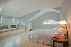 Extreme makeover in Millbrook - traditional - bedroom - new york - Beckwith Group - shed dormer from inside