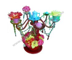 Tea Cup Candelabra Table Decoration - Props by Party Prop Hire