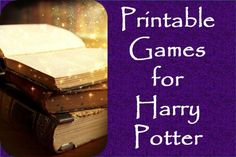 Easy printable game ideas for a Harry Potter Party