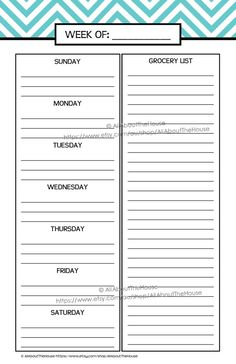 Printable Planner daily planner weekly planner calendar diary PDF ...