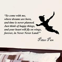 Details about Peter Pan Come with me childrens vinyl decal wall word art sticker decor The Words, Disney Peter Pan, Movie Quotes, Life Quotes, Qoutes, Attitude Quotes, Quotes Quotes, Peter Pan Quotes, Vinyl Wall Quotes