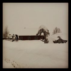 This iconic image graces the entrance of the town of Crested Butte.  I believe in this epic battle, the snow won out!