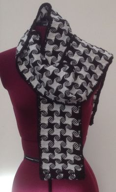 Black and White Pinwheel Scarf £25.00