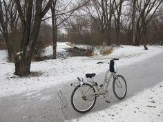 Biking in a winter wonderland - 12/2/14