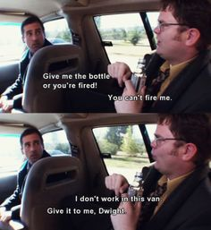 The Office Dwight & Michael.