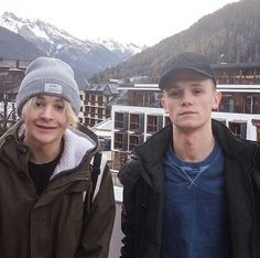 Leo and Charlie in Austria